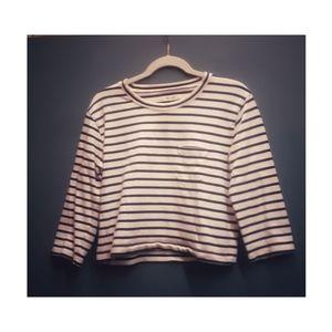 Striped crewneck sweater